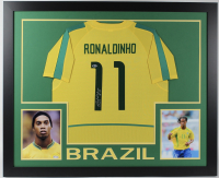Ronaldinho Signed 35x43 Custom Framed Jersey (Beckett COA) at PristineAuction.com