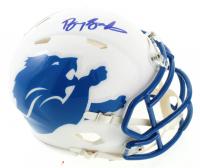 Barry Sanders Signed Lions Matte White Speed Mini Helmet (Schwartz Sports Hologram) at PristineAuction.com