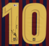 Lionel Messi Signed 35x43 Custom Framed Jersey (Beckett COA) at PristineAuction.com
