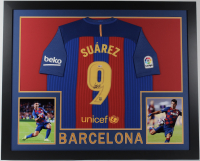 Luis Suarez Signed 35x43 Custom Framed Jersey (Beckett COA) at PristineAuction.com