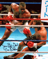 "James ""Buster"" Douglas Signed 8x10 Photo Inscribed ""Love"" & ""Peace"" (Beckett COA) at PristineAuction.com"