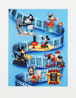 "Disney LE ""Mickey Through The Years"" 16x20 Lithograph with Film Cel at PristineAuction.com"
