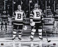 Brad Marchand & Patrice Bergeron Signed Bruins 16x20 Photo (YSMS COA) at PristineAuction.com