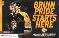 Patrice Bergeron Signed Bruins 11x17 Poster (Bergeron COA) at PristineAuction.com