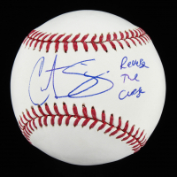 "Curt Schilling Signed OML Baseball Inscribed ""Reverse The Curse"" (JSA COA) at PristineAuction.com"