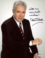 "Alex Trebek Signed 8x10 Photo Inscribed ""With My Very Best Wishes!"" (Beckett COA) at PristineAuction.com"