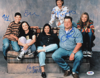 """""""Roseanne"""" 11x14 Photo Cast-Signed by (5) with John Goodman, Roseanne Barr, Michael Fishman, Laurie Metcalf & Sara Gilbert (PSA LOA) at PristineAuction.com"""