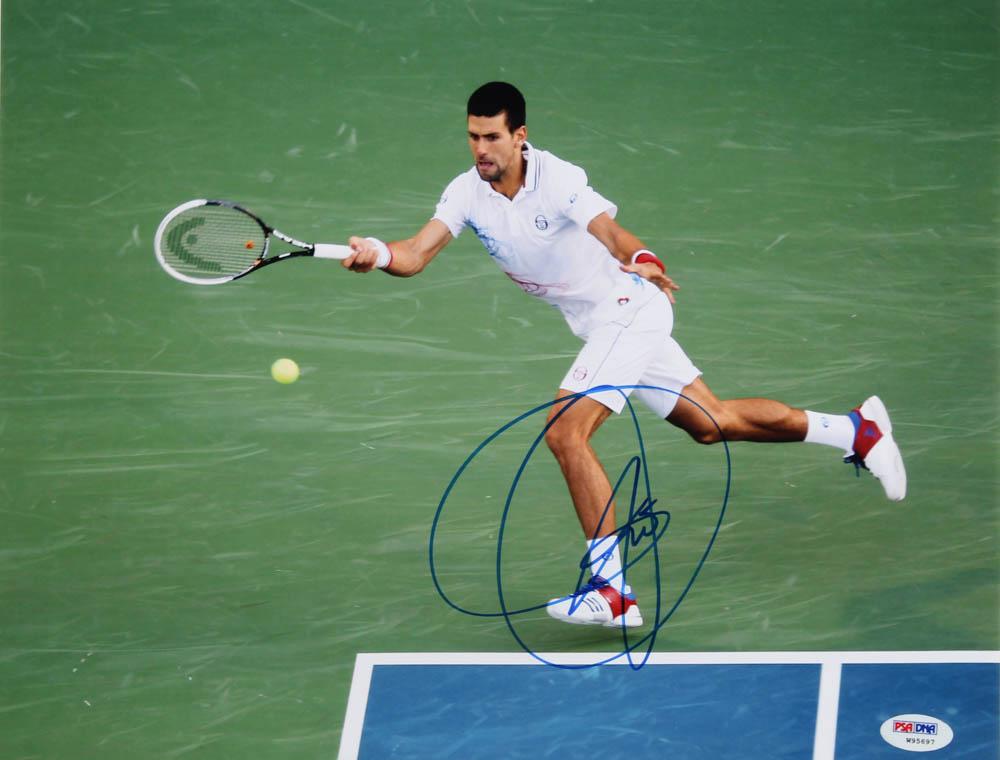 Novak Djokovic Signed 11x14 Photo (PSA Hologram) at PristineAuction.com
