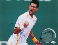 Novak Djokovic Signed 11x14 Photo (PSA Hologram) at PristineAuction.com