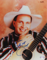 "Garth Brooks Signed 11x14 Photo Inscribed ""God Bless"" (PSA Hologram) at PristineAuction.com"