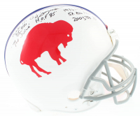 O.J. Simpson Signed Bills Full-Size Authentic On-Field Helmet with Multiple Inscriptions (JSA COA) at PristineAuction.com