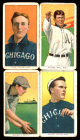Lot of (4) 1909-11 T206 Baseball Cards with Ira Thomas#486, Lou Fiene #172 / Portrait, Doc White #507 / Chicago Pitching, George Moriarty #346 at PristineAuction.com