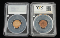 Lot of (2) 1954 & 1954 (S) 1 Cent Lincoln Pennies (PCGS PR66RD & PCGS MS66RD) at PristineAuction.com