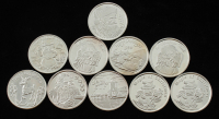 Lot of (10) Christmas Holliday .999 One Troy Ounce Fine Silver Bullion Round at PristineAuction.com