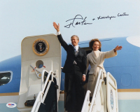Jimmy Carter & Rosalynn Carter Signed 11x14 Photo (PSA LOA) at PristineAuction.com
