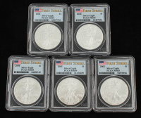 Lot of (5) 200-2004 Silver Eagle First Strike Coins (PCGS MS68 & PCGS MS69) at PristineAuction.com