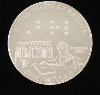 2009 Louis Braille Bicentennial Silver Dollar Coin at PristineAuction.com