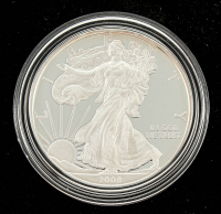 2008 American Eagle .999 1oz Fine Silver Proof Coin at PristineAuction.com