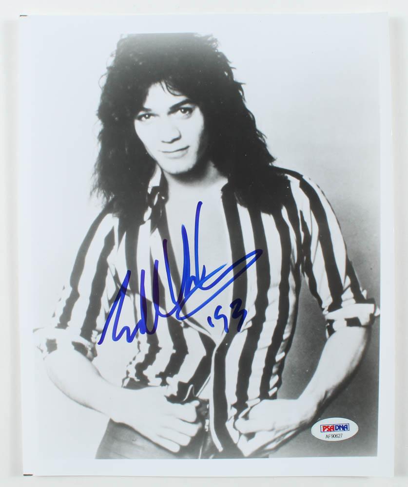"Eddie Van Halen Signed Van Halen 8x10 Photo Inscribed ""'93"" (PSA Hologram) at PristineAuction.com"