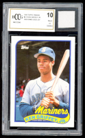 Ken Griffey Jr. 1989 Topps Traded #41T RC with Game-Used Jersey (BCCG 10) at PristineAuction.com