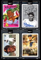 Lot of (4) 2020 Topps Project 2020 Baseball Cards with Derek Jeter #82, Jackie Robinson #79, Bob Gibson #84 & Roberto Clemente #78 (Project 2020 Encapsulated) at PristineAuction.com