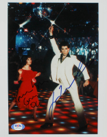"John Travolta & Karen Lynn Gorney Signed ""Saturday Night Fever"" 8x10 Photo (PSA Hologram) at PristineAuction.com"