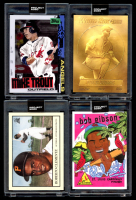 Lot of (4) 2020 Topps Project 2020 Baseball Cards with Frank Thomas #73, Bob Gibson #84, Mike Trout #85 & Roberto Clemente #78 (Project 2020 Encapsulated) at PristineAuction.com