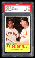 Willie Mays / Stan Musial 1963 Topps #138 Pride of NL (PSA 7) (OC) at PristineAuction.com
