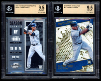 Lot of (2) BGS Graded 9.5 Gleyber Torres 2018 Panini Baseball Cards with Contenders Optic Holo #10 RC & Revolution #12 RC at PristineAuction.com