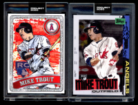 Lot of (2) Mike Trout 2020 Topps Project 2020 Baseball Cards with #85 & #100 (Project 2020 Encapsulated) at PristineAuction.com