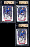 Lot of (3) BGS Graded 9.5 Kris Bryant 2014 Bowman Prospects #BP25 at PristineAuction.com