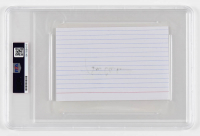 Bill Clinton Signed 4x6 Index Card (PSA Encapsulated) at PristineAuction.com