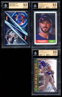 Lot of (3) BGS Graded 9.5 Kris Bryant Baseball Cards with 2018 Topps Kris Bryant Highlights #KB18, 2018 Topps Throwback Thursday #186, & 2015 Bowman's Best Mirror Image #MI7 Kris Bryant / Nolan Arenado at PristineAuction.com