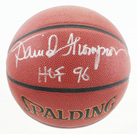 "David Thompson Signed NBA Basketball Inscribed ""HOF 96"" (JSA COA) at PristineAuction.com"