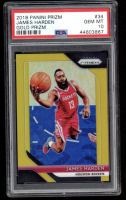James Harden 2018-19 Panini Prizm - Prizms Gold #34 - #08/10 (PSA 10) at PristineAuction.com