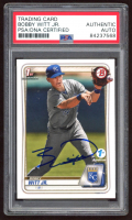 Bobby Witt Jr.  Signed 2020 Bowman 1st Edition #BFE25 (PSA Encapsulated) at PristineAuction.com