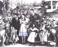 """""""The Wizard Of Oz"""" 8x10 Photo Cast-Signed by (4) with Mickey Carroll, Jerry Maren, Donna Stewart-Hardaway, Karl Slover (JSA COA) at PristineAuction.com"""