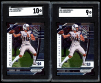 Lot of (2) SGC Graded Jordan Love Football Cards with 2020 Panini Prizm Draft Picks #148 RC (SGC 9 & 10) at PristineAuction.com