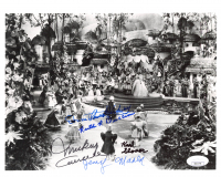 """""""The Wizard Of Oz"""" 8x10 Photo Cast-Signed by (5) with Mickey Carroll, Jerry Maren, Donna Stewart-Hardaway, Karl Slover (JSA COA) at PristineAuction.com"""