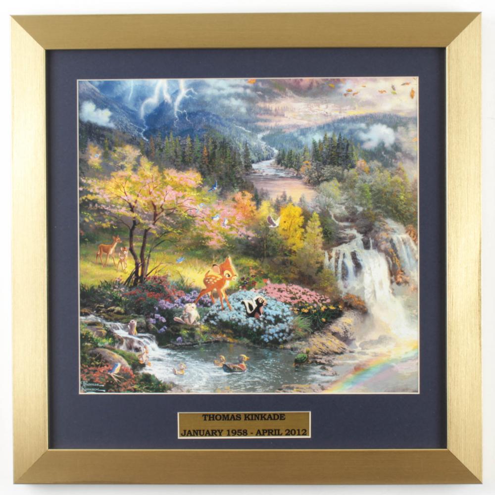 "Thomas Kinkade Walt Disney's ""Bambi"" 16x16 Custom Framed Print Display at PristineAuction.com"