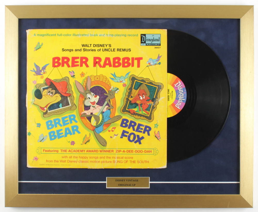 Vintage Walt Disney LP of Retired Characters 18x22 Custom Framed Record Display at PristineAuction.com