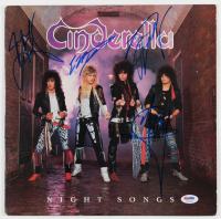 "Cinderella ""Night Songs"" Vinyl Record Album Cover Band-Signed by (4) with Tom Keifer, Eric Brittingham, Jeff LaBar & Fred Coury (PSA LOA) at PristineAuction.com"