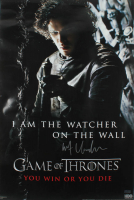 "Kit Harington Signed ""Game of Thrones"" 24x36 Watcher on the Wall Poster (Radtke Hologram) (See Description) at PristineAuction.com"