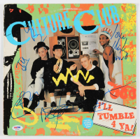 "Culture Club ""I'll Tumble 4 Ya"" Vinyl Record Album Cover Band-Signed by (4) with Boy George, Roy Hay, Jon Moss & Mikey Craig (PSA LOA) at PristineAuction.com"