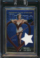 Marilyn Monroe Chrome Insert Card w/ Personally Owned Bed Sheet Swatch Relic! at PristineAuction.com