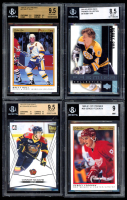 Lot of (4) BGS Graded Hockey Cards with Brett Hull 1990-91 OPC Premier #47 (BGS 9.5), Bobby Orr 2001-02 UD Premier Collection #5 (BGS 8.5), Sergei Fedorov 1990-91 OPC Premier #30 RC (BGS 9), & Connor McDavid 2015 ITG CHL (BGS 9.5) Draft #1 at PristineAuction.com