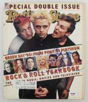 "Billie Joe Armstrong, Mike Dirnt & Tre Cool Signed ""Rolling Stone"" Magazine (PSA LOA) at PristineAuction.com"