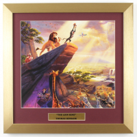 "Thomas Kinkade Walt Disney's ""The Lion King"" 16x16 Custom Framed Print Display at PristineAuction.com"