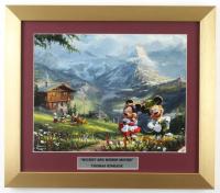 "Thomas Kinkade ""Mickey & Minnie Mouse"" 14x16 Custom Framed Print Display at PristineAuction.com"