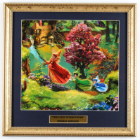 "Thomas Kinkade's ""The Fairy Godmothers"" 16x16 Custom Framed Print Display at PristineAuction.com"